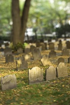 Many family cemeteries, generations