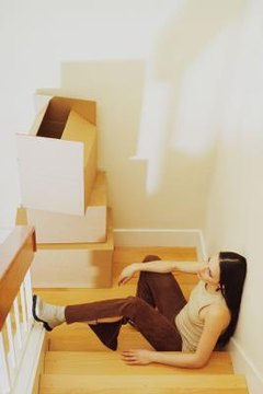 The landlord can seize a tenant's belongings after judgment if she has not moved out.