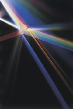 A prism shows how light bends.