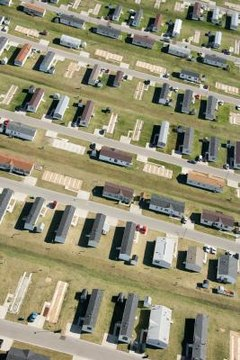 Mobile homes have become an alternative form of housing.