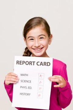 Calculating a report card grade is simple to do.