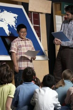 Children give speeches from the time they are in elementary school.