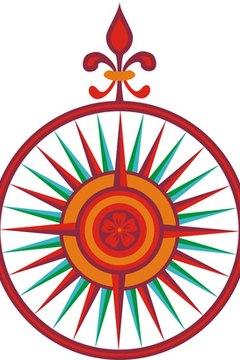 The fleur-de-lis represents north.
