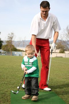 Playing golf can be an excellent father-son activity.