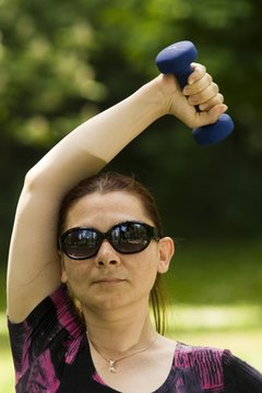 Use free weights for shoulder-strengthening exercises.