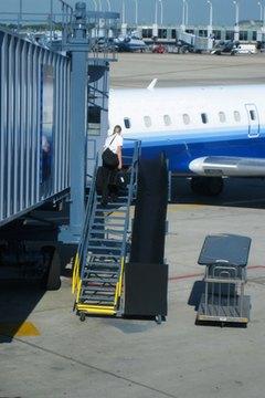 Flight attendants must have good health and eyesight.