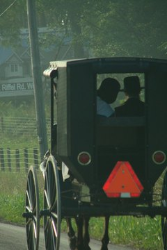 Amish women routinely  wear caps and bonnets.