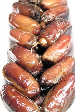 Medjool dates are larger than the more common deglet noors.