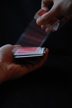 Shuffling tarot cards isn't any different from shuffling poker cards.