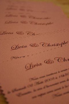 Bridemaids' luncheon invitations can be added to the collection of wedding keepsakes.