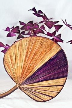 Uchiwa fans are flat and circular.