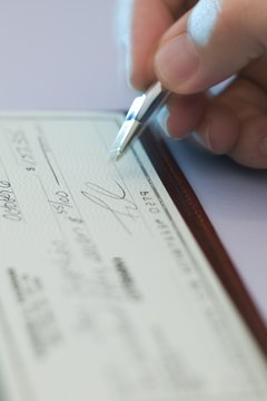 Joint bank accounts have two names on the checks.
