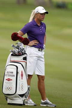 Tour players like Suzann Pettersen of Norway change their 14 clubs based on the type of course they're playing.