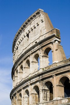 The Colosseum housed the gladiator games, a key Roman social event.