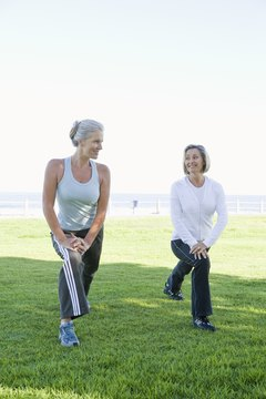Including lunges in your warmup will help loosen your hips before you work out.