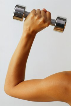 By moving correctly through your strength exercises, you can get toned arms.