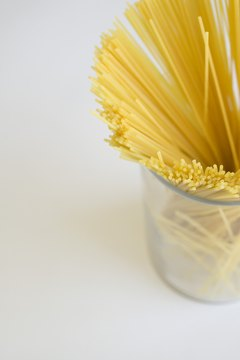 Spaghetti noodles are a good source of B vitamins.