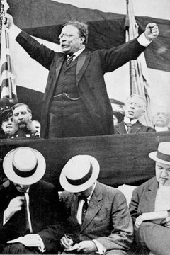 Theodore Roosevelt did not win the 1912 election but heavily influenced it.