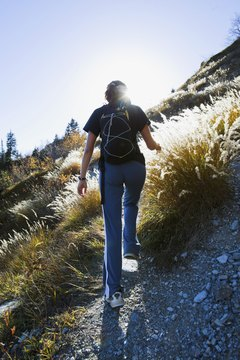 Hill-walking cardio tones the lower body and burns calories.