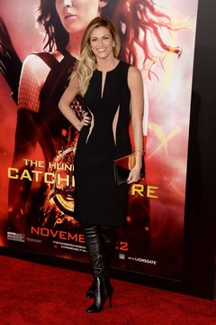 TV personality Erin Andrews looks chic in knee-high boots and an LBD at a premiere in Los Angeles in November 2013.