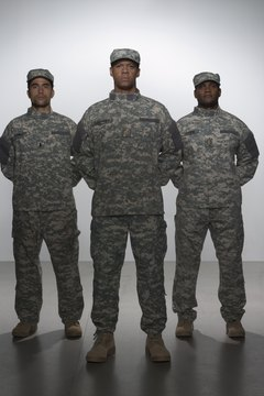 men in military uniform
