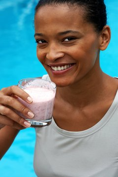 Protein shakes can help your recovery after a gym session.