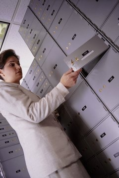 A bank safe-deposit box offers a secure place to store valuable documents.