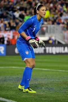 Goalkeeper Hope Solo led the U.S. Women's National team to Olympic glory.