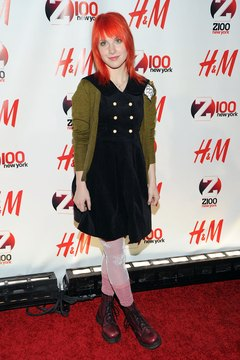 Hayley Williams of Paramore wears her Docs to a concert in New York City.