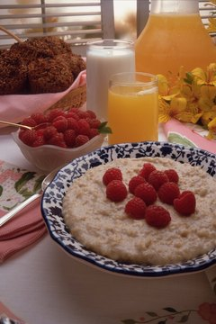 A big bowl of oats keeps your daily fiber intake on track.