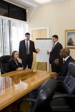 Business people in full suit discussing in an office
