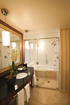 Consider decreased utilities costs when planning the remodeling of a bathroom.