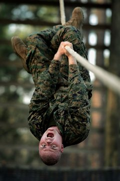 Marines undergo intensive physical training.