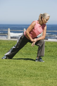 Lunges both stretch and strengthen your legs.