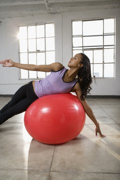 Some Pilates classes incorporate nontraditional props such as stability balls.