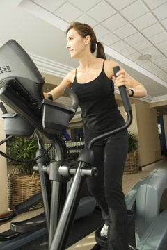 Get in some cardio with an elliptical machine.