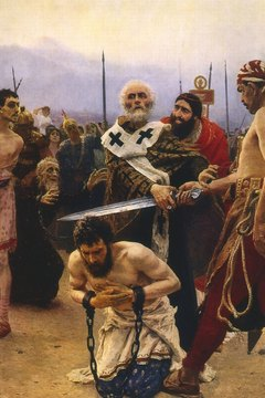 Saint Nicholas stopped an execution.