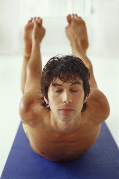 Bikram yoga, or hot yoga, is done in a room heated to over 105 degrees Fahrenheit.
