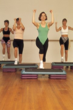 Step aerobics can burn up to 450 calories per 45-minute class.