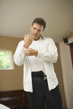 White cotton undershirts help protect your shirt from deodorant stains.