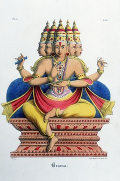 Brahma, a manifestation of Brahman, creates the universe.