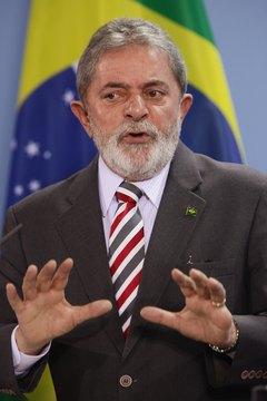 Brazilians elected President Luiz Inacio Lula da Silva in 2002.