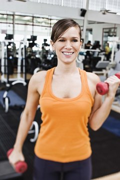 Women should perform three to four sets of 12 to 20 repetitions for weight lifting exercises.