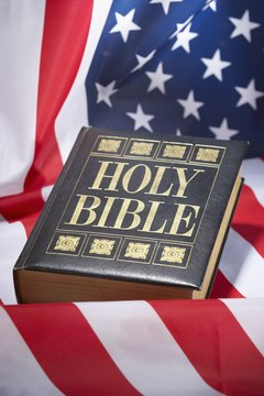 The Bible does not give explicit instructions on flag-flying etiquette.