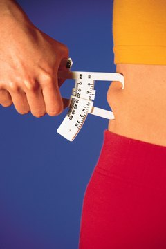 Skinfold measurements with calipers are one way to estimate body fat.