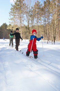 Cross-country skiing is great aerobic exercise for all ages.