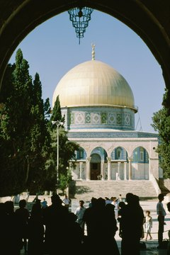 The Dome of the Rock Mosque is a holy site to Palestinian Muslims.