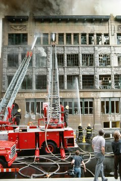 Safety engineers work in fire departments to help improve firefighting technologies.