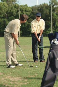 Take a lesson to improving your golf game.