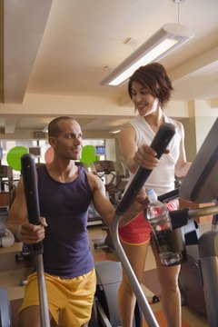 Elliptical trainers provide an excellent low-impact workout.